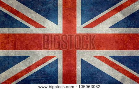 National flag of the United Kingdom with retro treatment