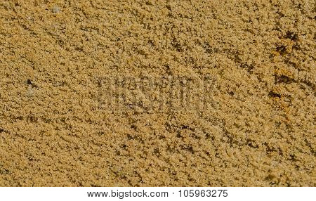 Natural fine sand quarry close up