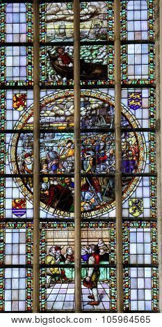 Stained Glass - The Capture Of Den Briel (1572)