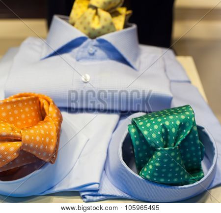 Male Shirt And Necktie