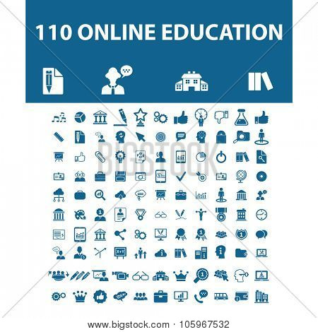 online education, science, school, learning, lesson, study icons