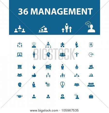 management, marketing icons
