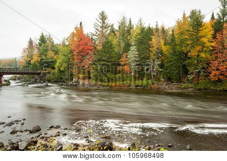 Androscoggin River In Fall