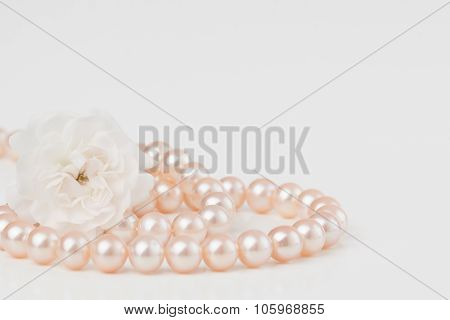 Pastel Pink Pearls With Roses