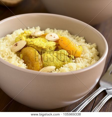 Chicken and Dried Apricot Stew on Couscous