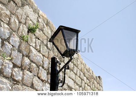 Street Lamp In The Old Town Of Safed