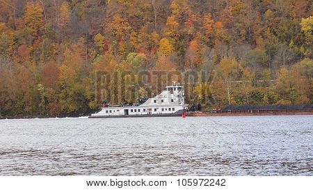 Coal Barge on the Ohio River.