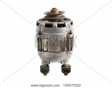 induction motor isolated on a white background