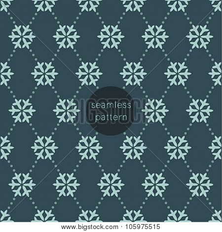 Snowflake seamless pattern. Vector illustration.