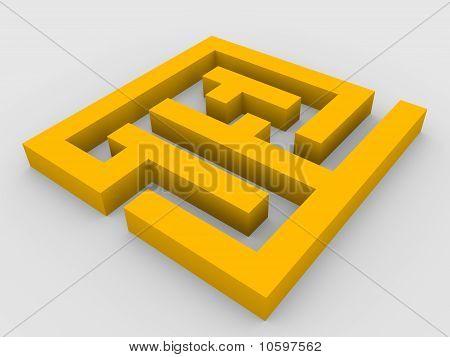 3D render do labirinto