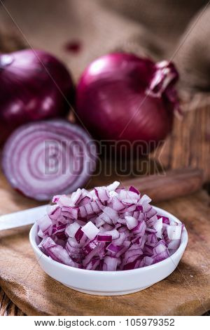 Some Fresh Red Onions (diced)