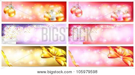 Stylish Colorful And Romantic Abstract Magic Christmas Night Celebration With Present Box, Balls, Ri