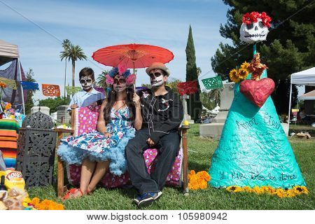 Family With Sugar Skull