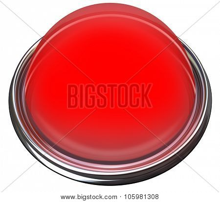 Red round 3d isolated button or light to catch or grab attention with a message or advertisement