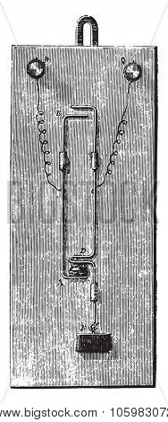 Electric fire alarms, vintage engraved illustration. Magasin Pittoresque 1882.