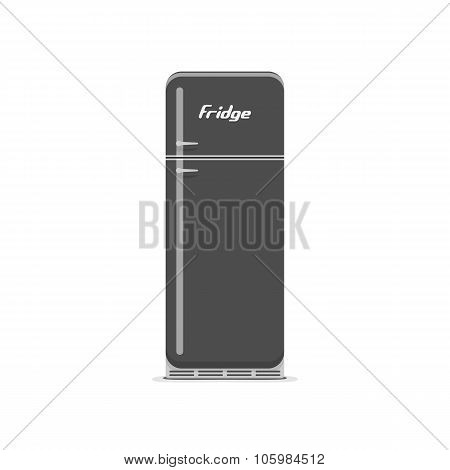 Vintage black and white Fridge