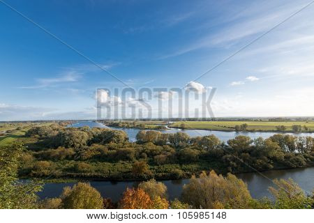 View Over The Elbe Near Boizenburg, Mecklenburg, Germany