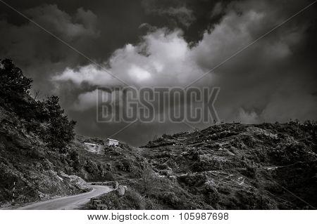 Mountain road in Nepal