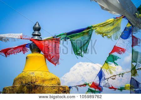 Annapurna and flags
