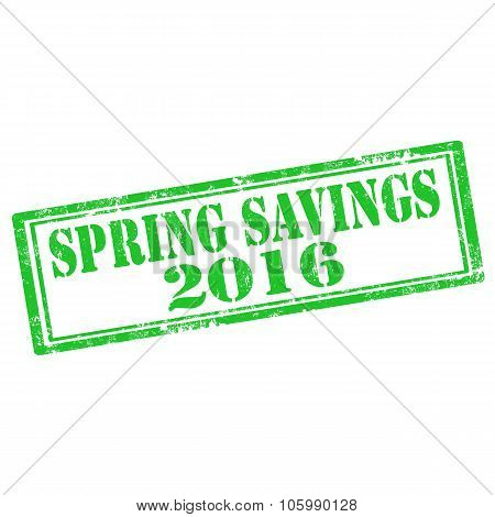 Spring Savings-stamp