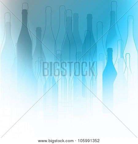 Bottles Silhouette Background