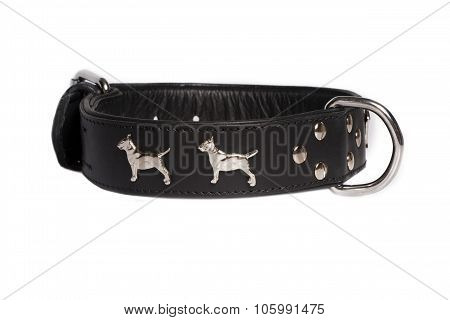 Black Leather Collar For Dog