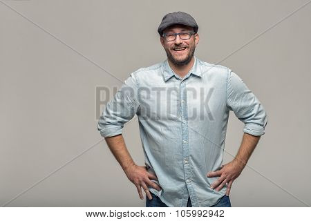 Friendly Attractive Man With Glasses