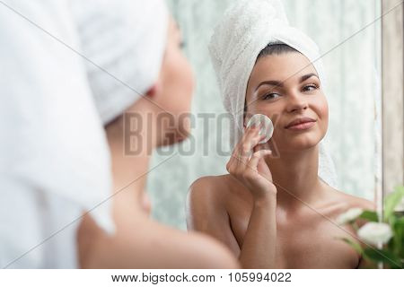 Woman Removing Make Up