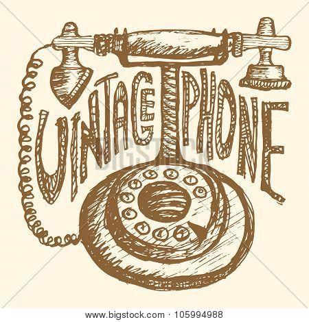 Retro phone. Vintage