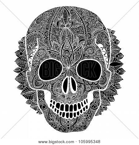Vector skull tatoo day of the dead illustration