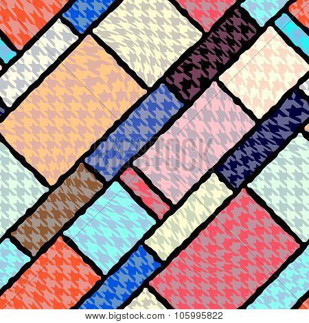 Houndstooth geometric pattern.