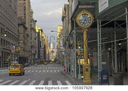 View Along Fifth Avenue, Ny.