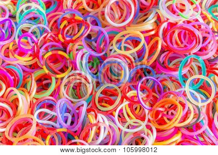closeup rubber band