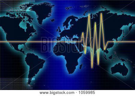 World Map _ Line