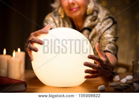 Magic Woman With Crystal Ball