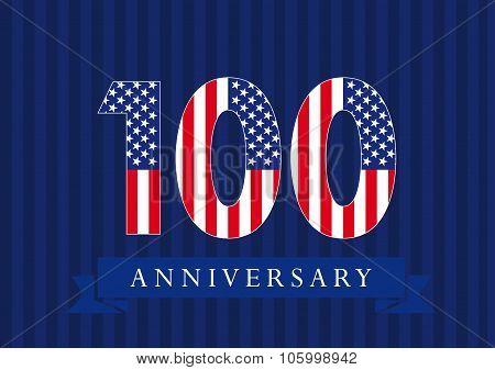 100 anniversary USA logo.