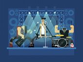 Постер, плакат: Rock band illustration