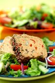 Spicy Aubergine Pate with Salad poster
