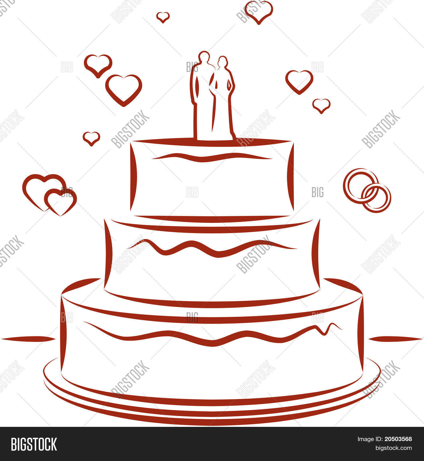 wedding cake vector wedding cake vector illustration vector amp photo bigstock 26758