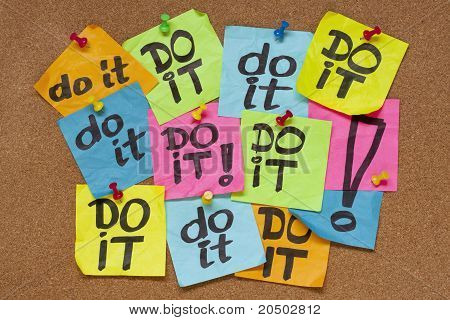 Do It - Procrastination Concept