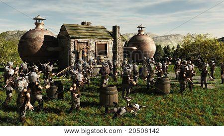 Toon Viking Dwarf Horde at the Brewery