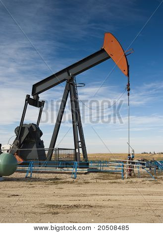 Oil Pumpmjack On The Prairie