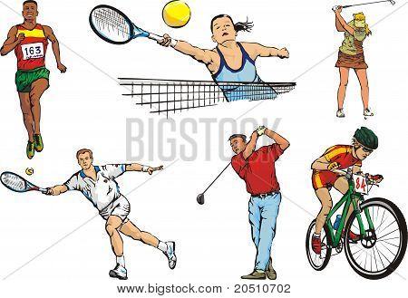 individual sports figures - outdoor
