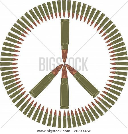 Against the war - peace symbol