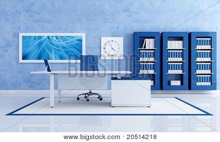 Zeitgenössische blau Büro
