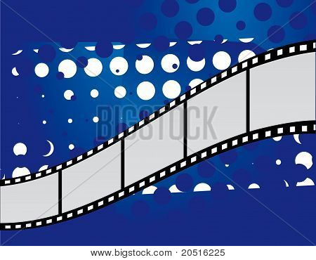 Film On An Abstract Background
