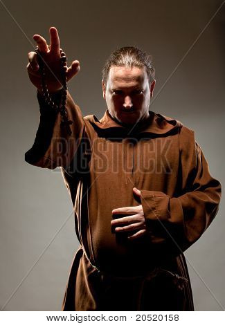 Pregação de monge Medieval