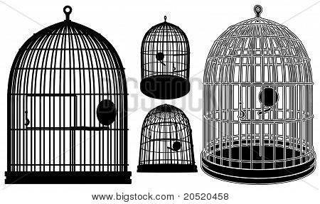 Bird Cage Vector 02.eps