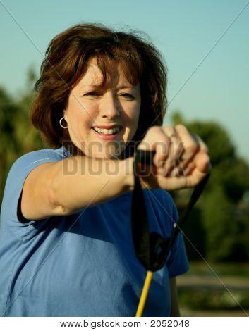 Woman exercising außerhalb