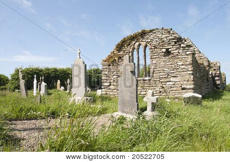 Church Ruins Of Hook Church In Ireland County Wexford